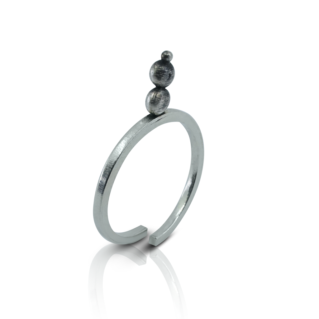 Abreme Despacio - Sterling Silver Zen Ring
