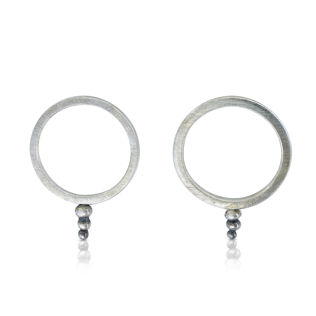 Zen Circle Designer Earrings on IndieFaves