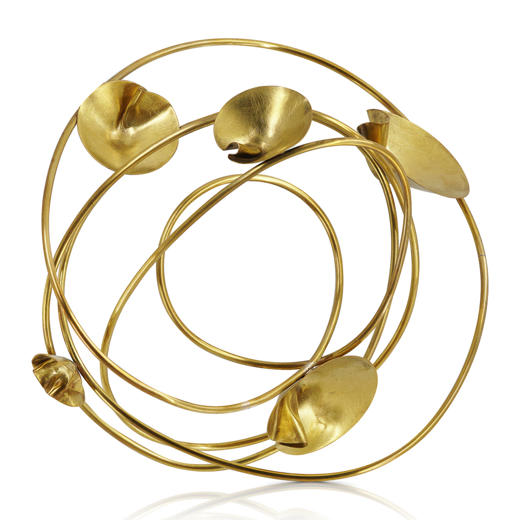 Abreme Despacio - One of A Kind Brass Water Lily Designer Bracelet on IndieFaves