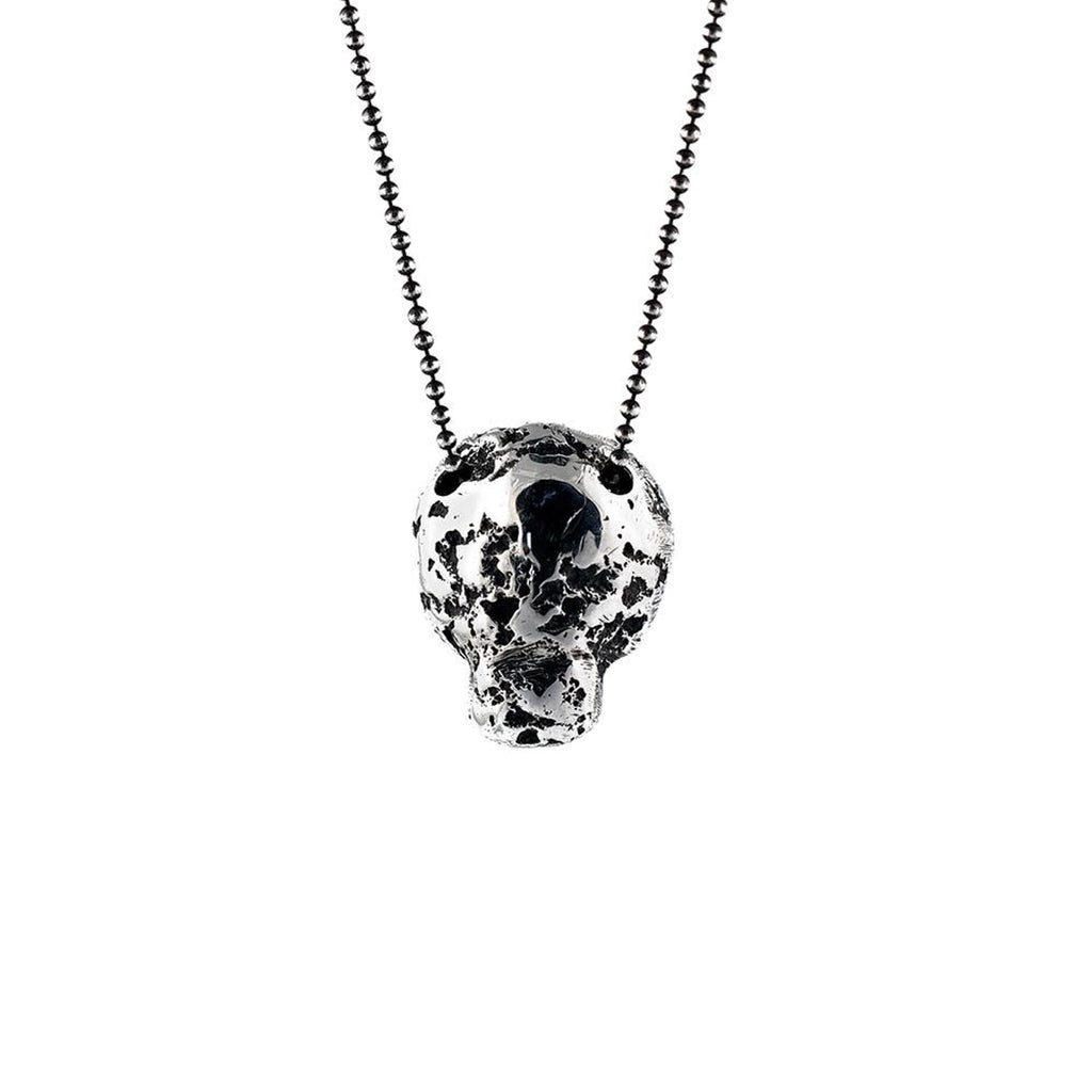 Oxidized Sterling Silver Eon Skull Designer Pendant on IndieFaves