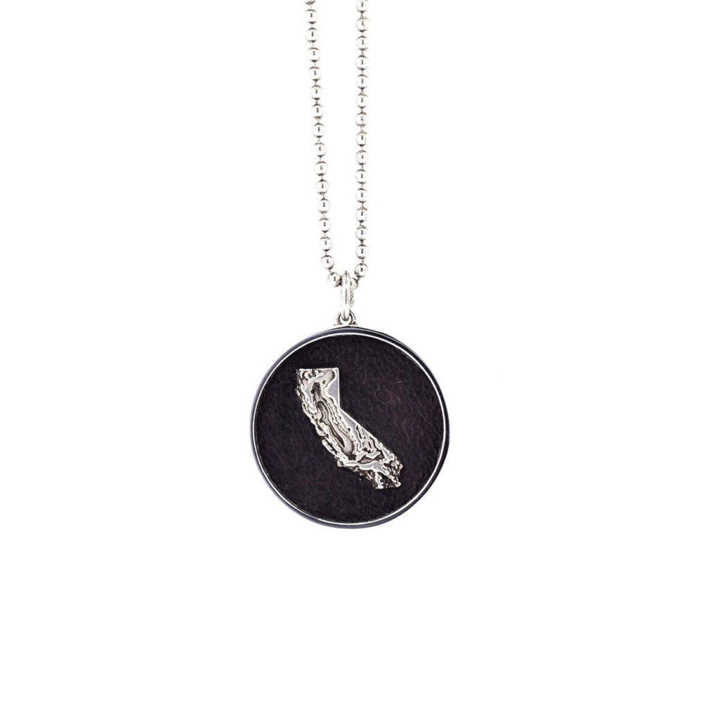 Customizable Sterling Silver California Designer Pendant on IndieFaves