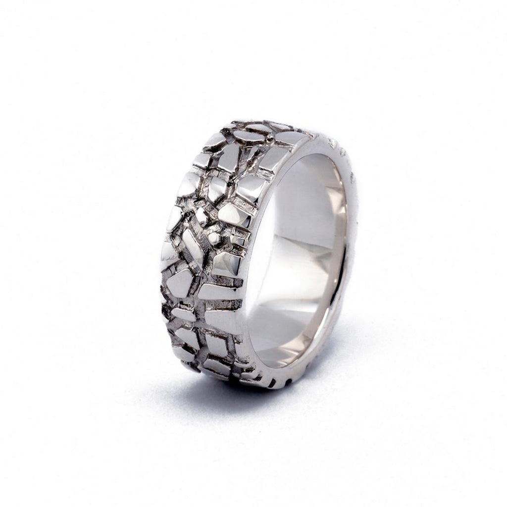 Vertical Sterling Silver Wanderer 8 Designer Ring on IndieFaves