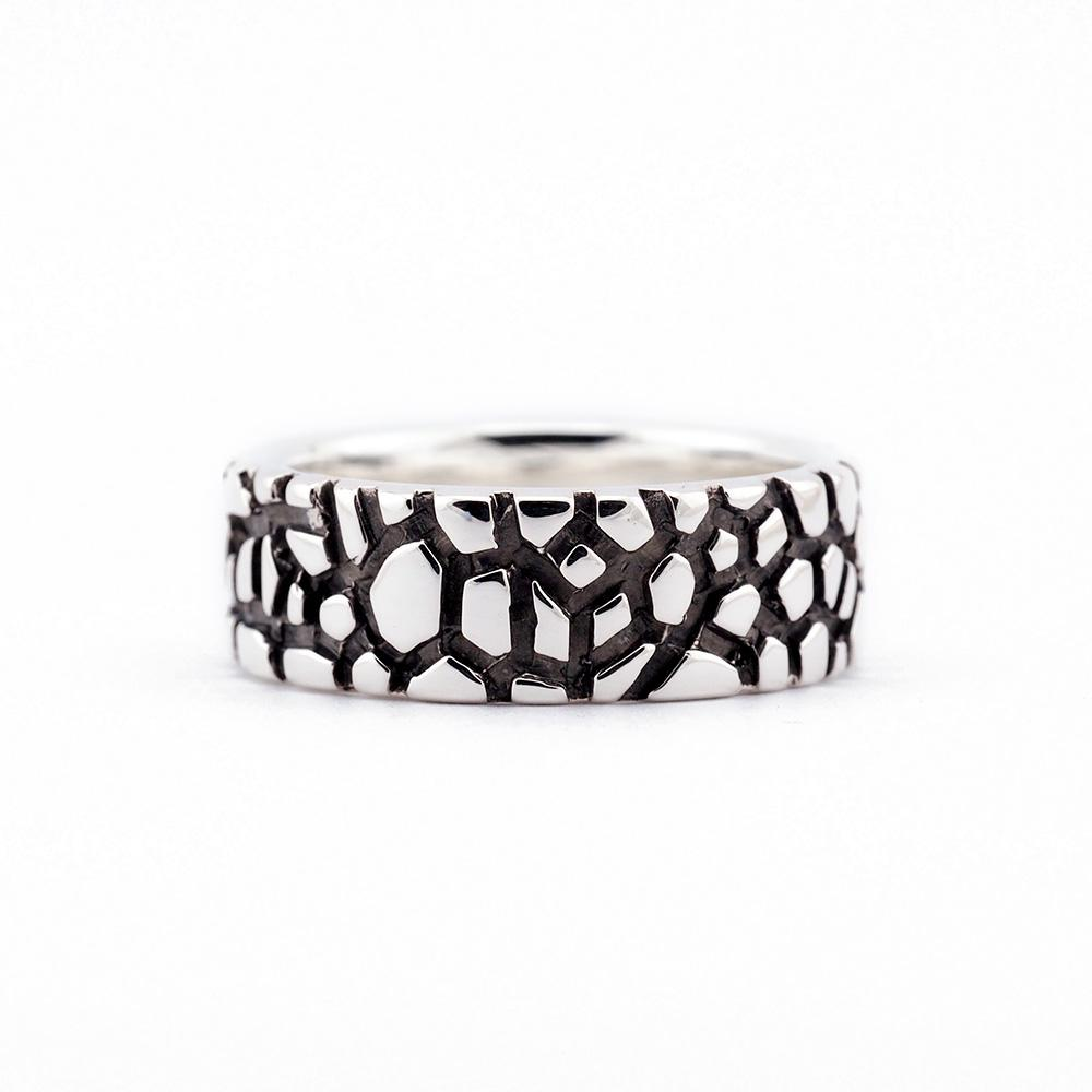 Rent Designer Jewelry - Albert Tse - Wanderer Ring 8mm Silver Oxidised