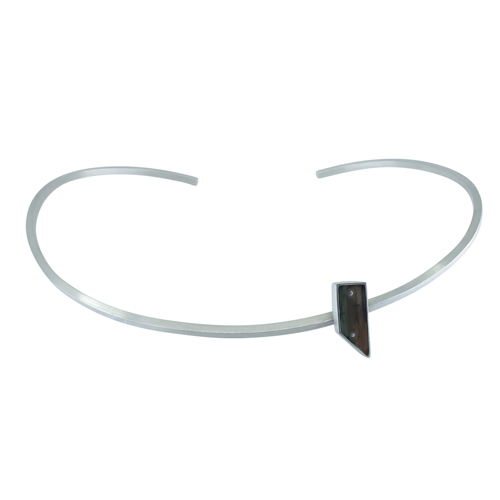 Andrea Rosales Hand-painted Sterling Silver W 8th & McDougal Street Neck Cuff by Designer Andrea Rosales on IndieFaves
