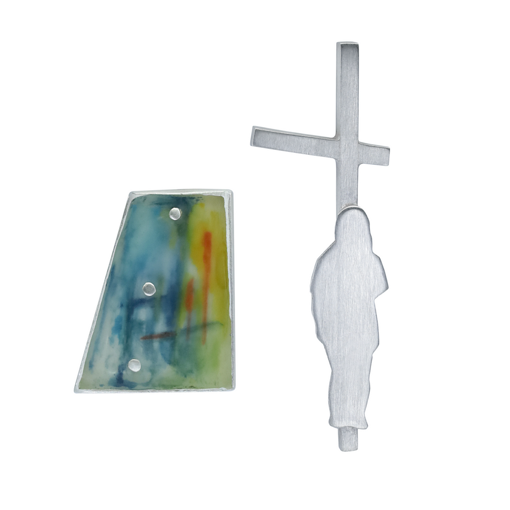 Andrea Rosales - Hand-painted Sterling Silver and Watercolor Designer Earrings on IndieFaves