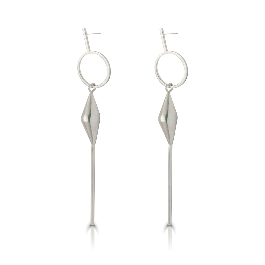 Anja Berg - Silver Closed Bell Earrings