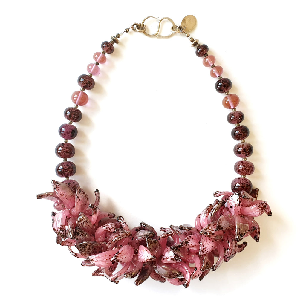 Anne Menzel One-Of-A-Kind Madeira Glass Designer Necklace on IndieFaves
