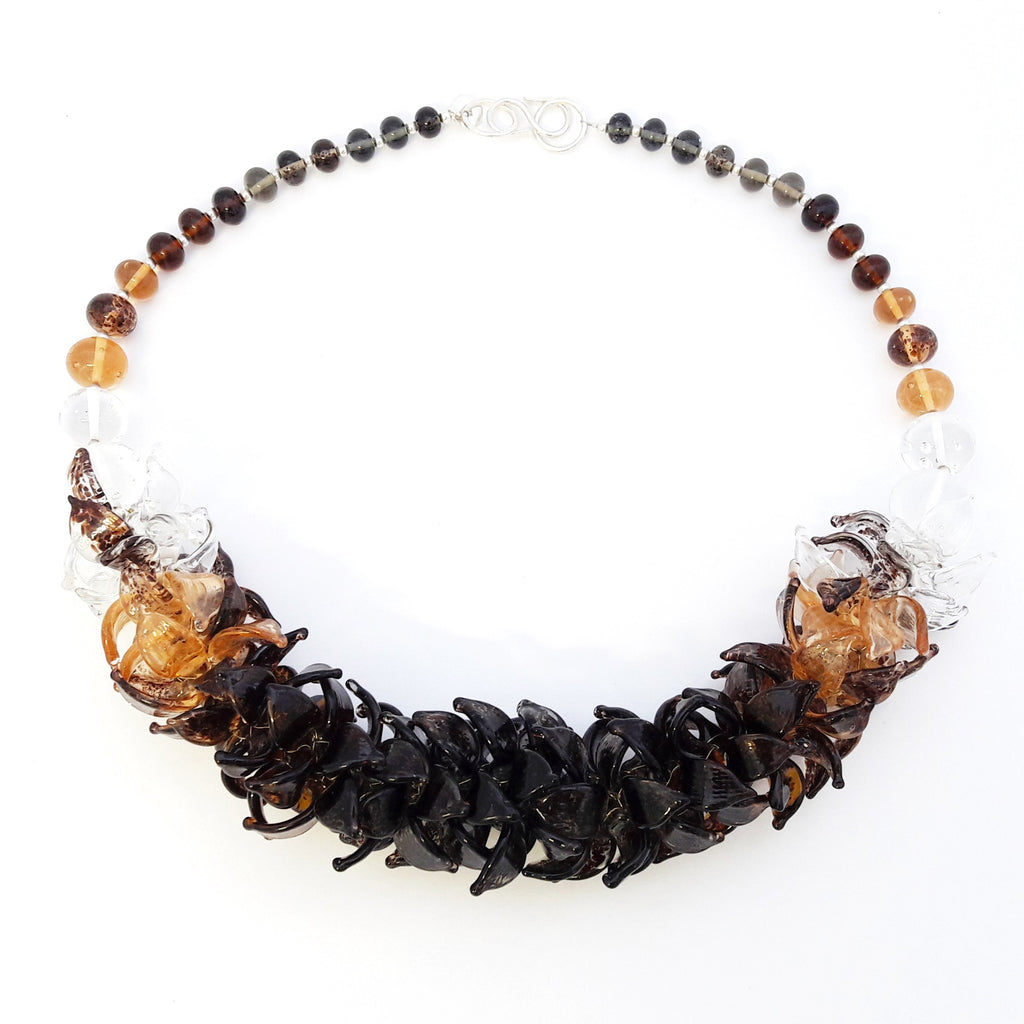 Anne Menzel One-Of-A-Kind Morocco Glass Designer Necklace on IndieFaves