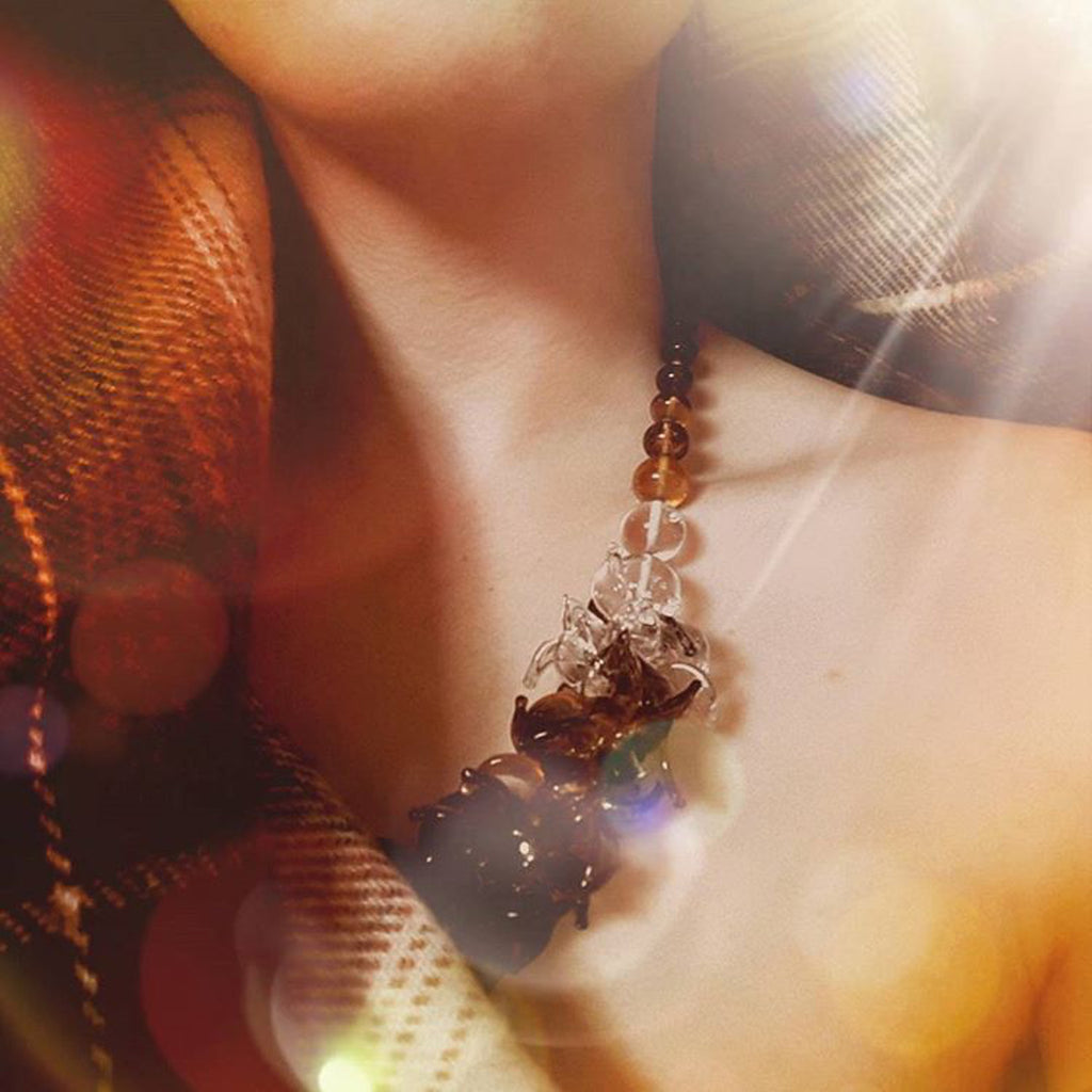 Model wearing Anne Menzel - Morocoo Designer Necklace on IndieFaves