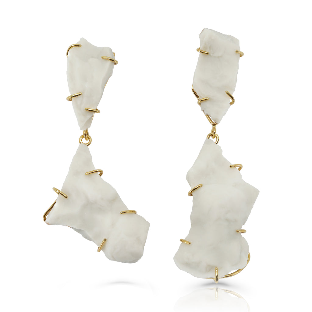 Anne Menzel - Oyster Gold Designer Earrings on IndieFaves