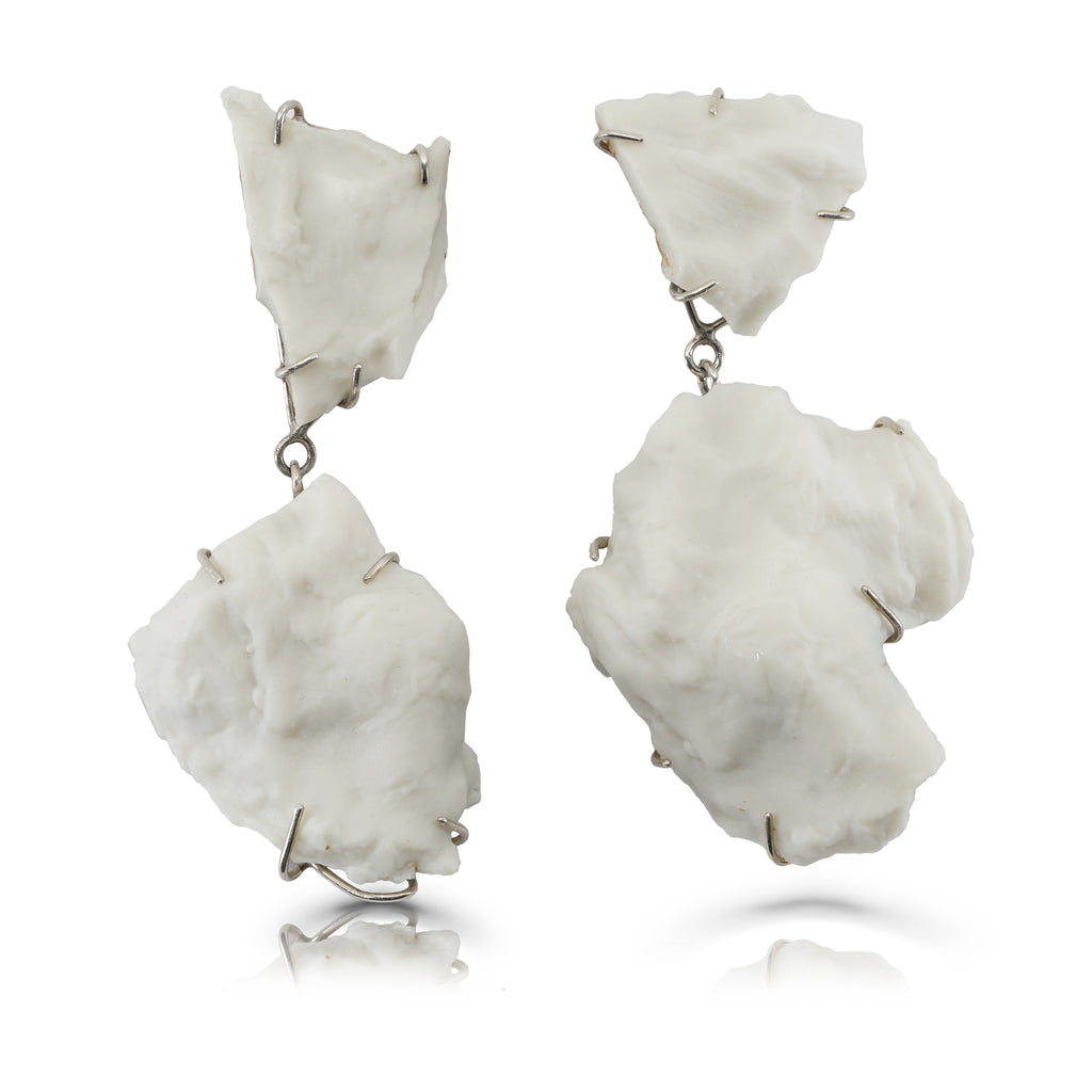 Porcelain Oyster Designer Earrings on IndieFaves