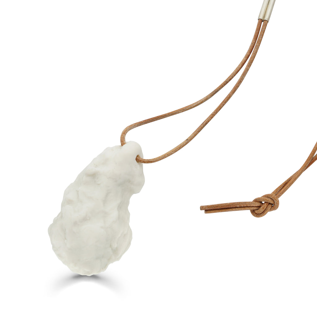 Porcelain Oyster Pendant Designer Necklace on IndieFaves