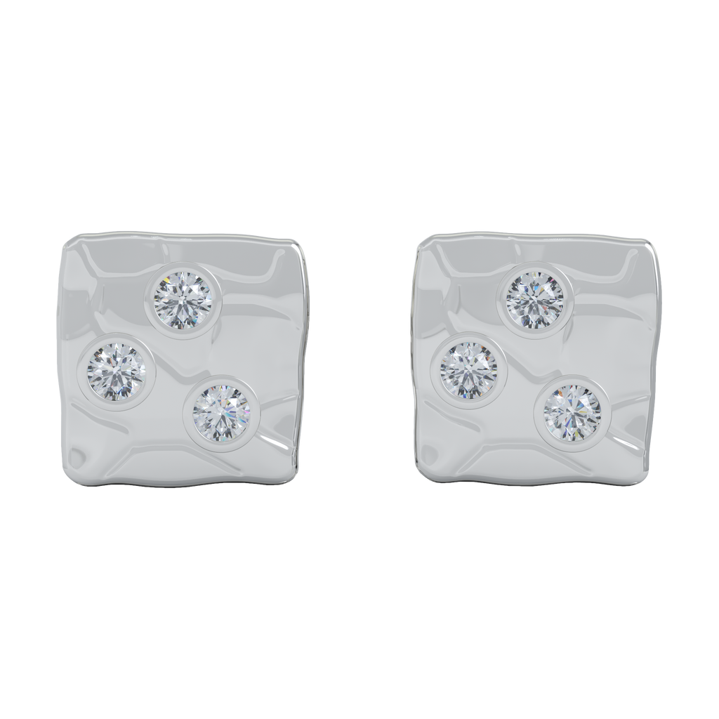 Ayesha Studio White Gold with Diamonds Studs