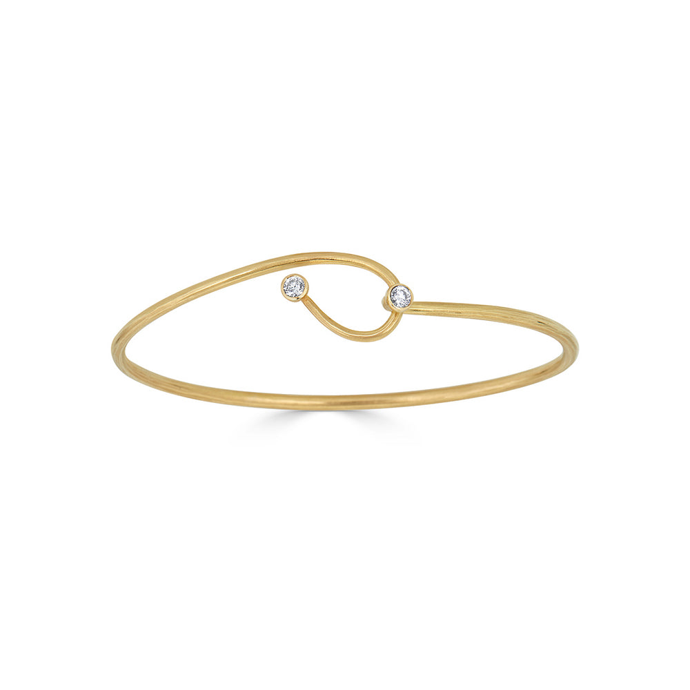 Ayesha Studio - Lasso Cuff Gold with Diamonds