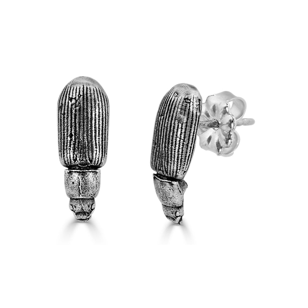 Rent Jewelry - Sterling Silver Beetle Studs Earrings
