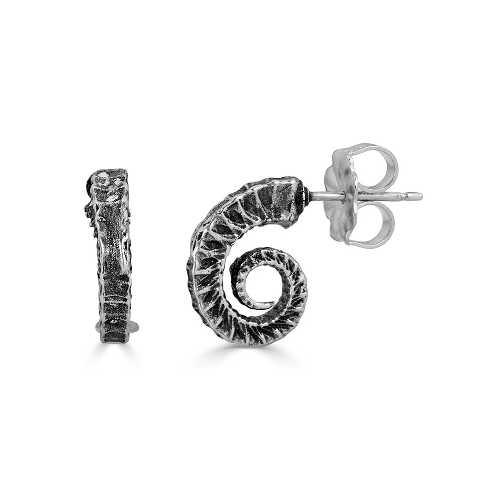 Birds N Bones - Seahorse Tail Designer Studs on IndieFaves