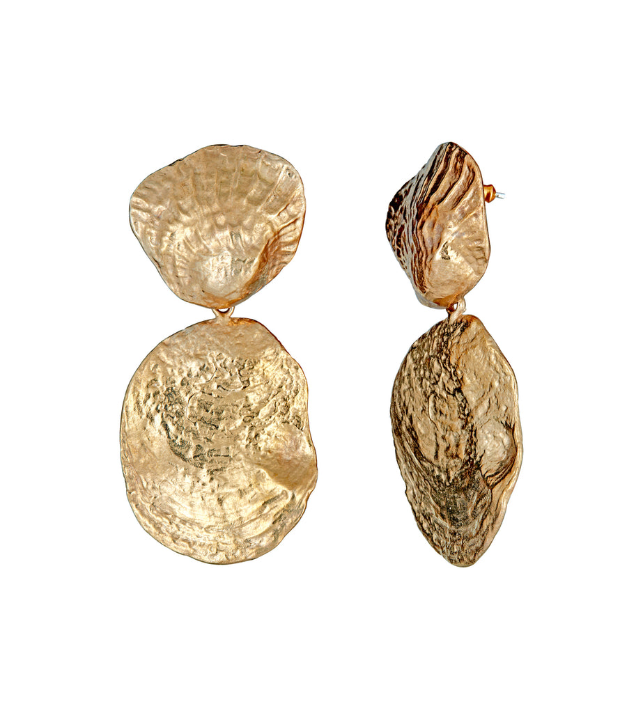 Rent Jewelry - Bronze Shell Dangle Earrings