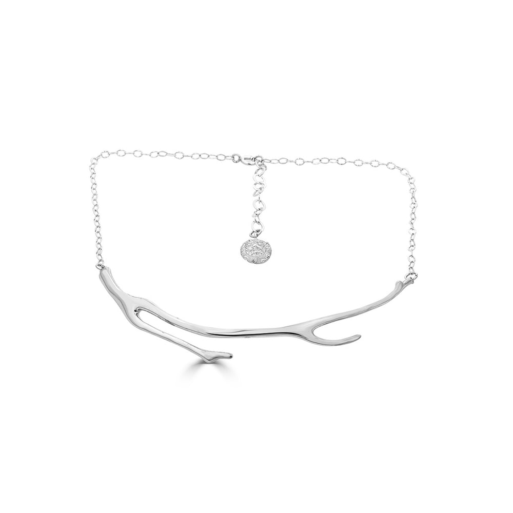 Rent Jewelry - Sterling Silver Coral Collar Necklace