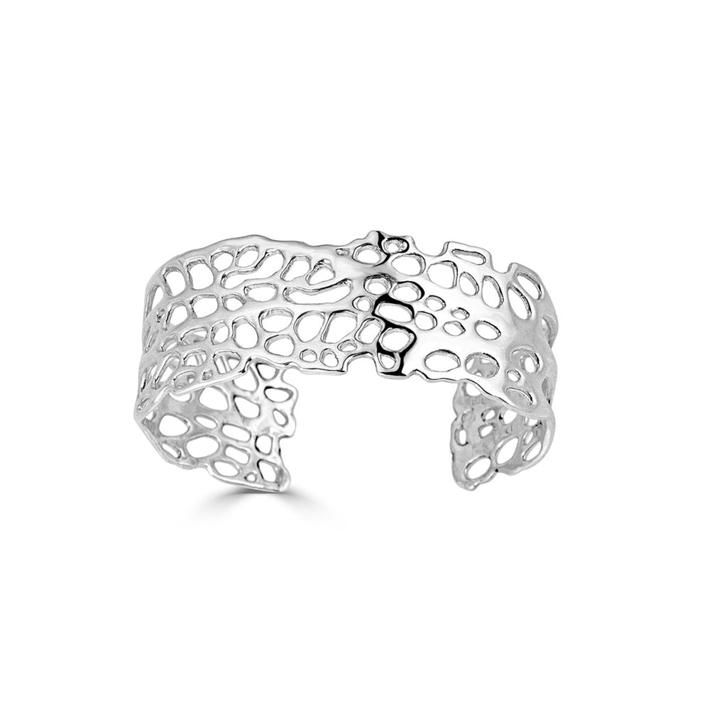 Silver Sea Fan Designer Cuff on IndieFaves