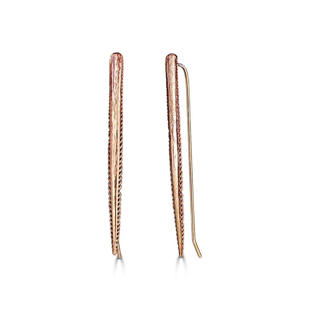 Bronze Sting Ray Spike Dangle Designer Earrings on IndieFaves