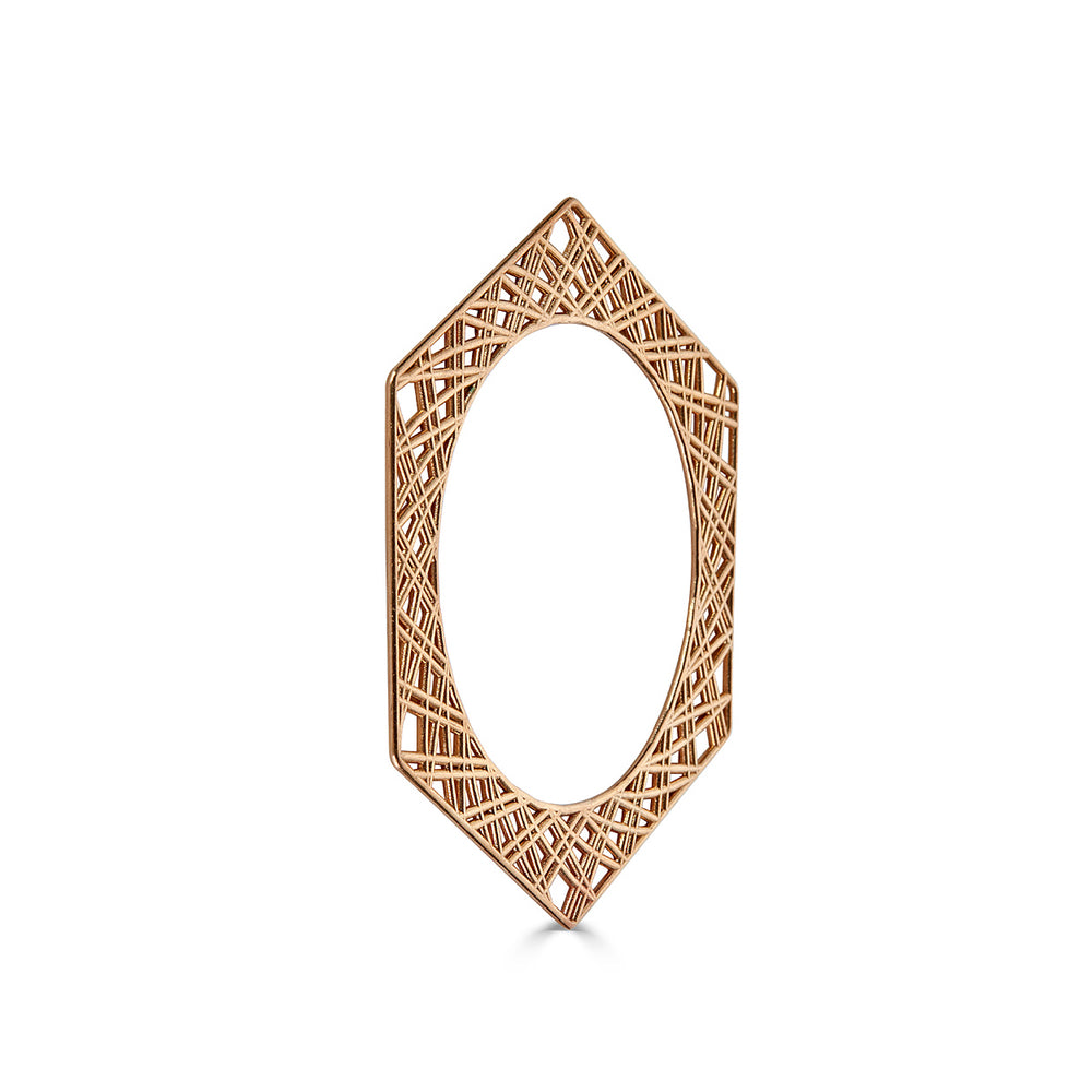 Rent Jewelry - Brass Geometrical Bangle or Bracelet