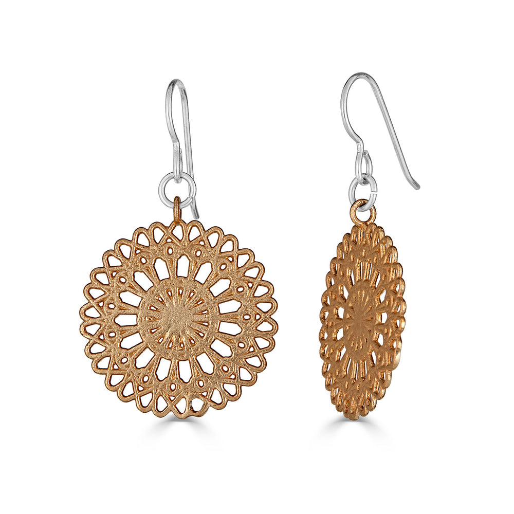 Rent Jewelry - Sterling Silver and Brass Earrings