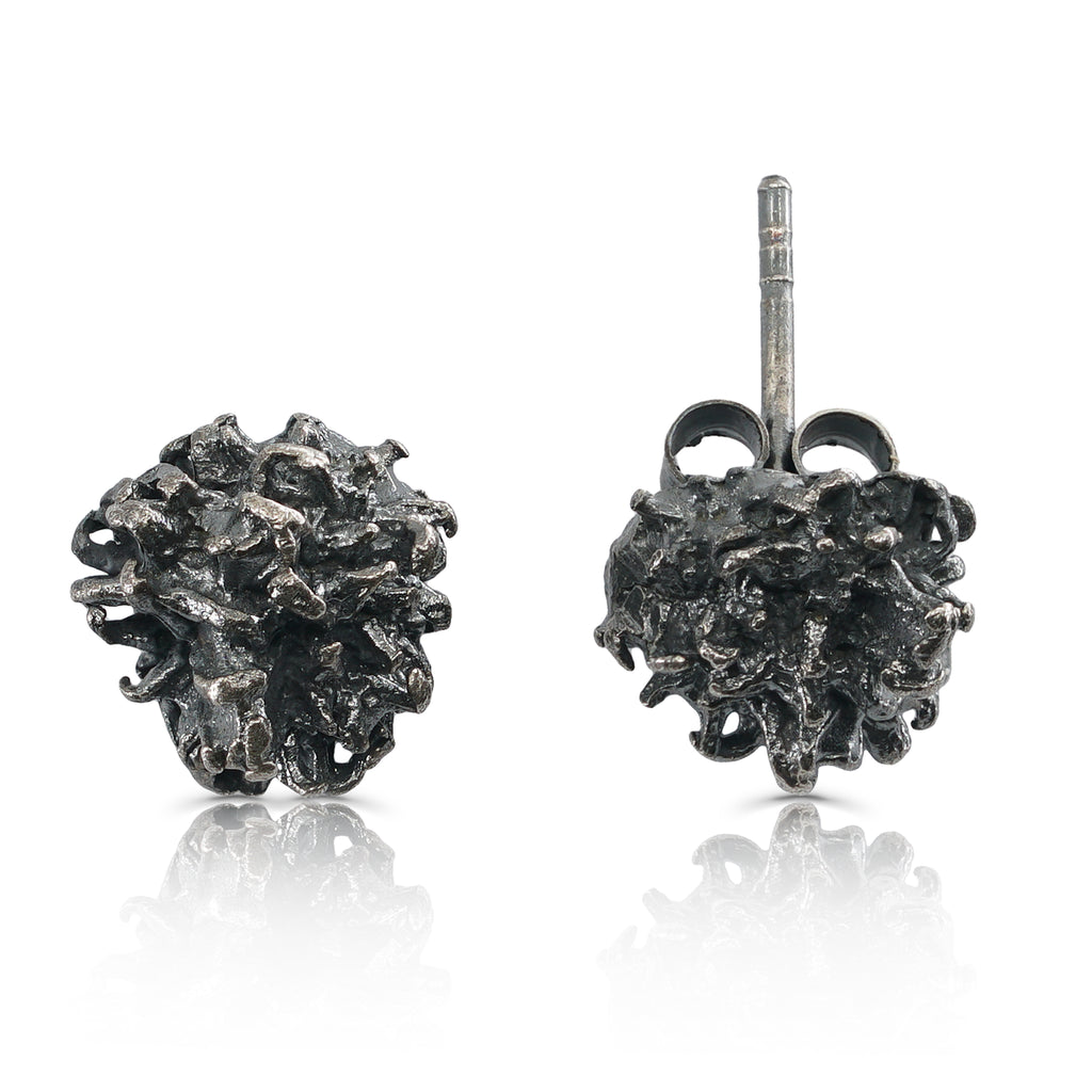 Elena Perez - Sterling Silver and Patina Liquidambar Designer Earrings on IndieFaves