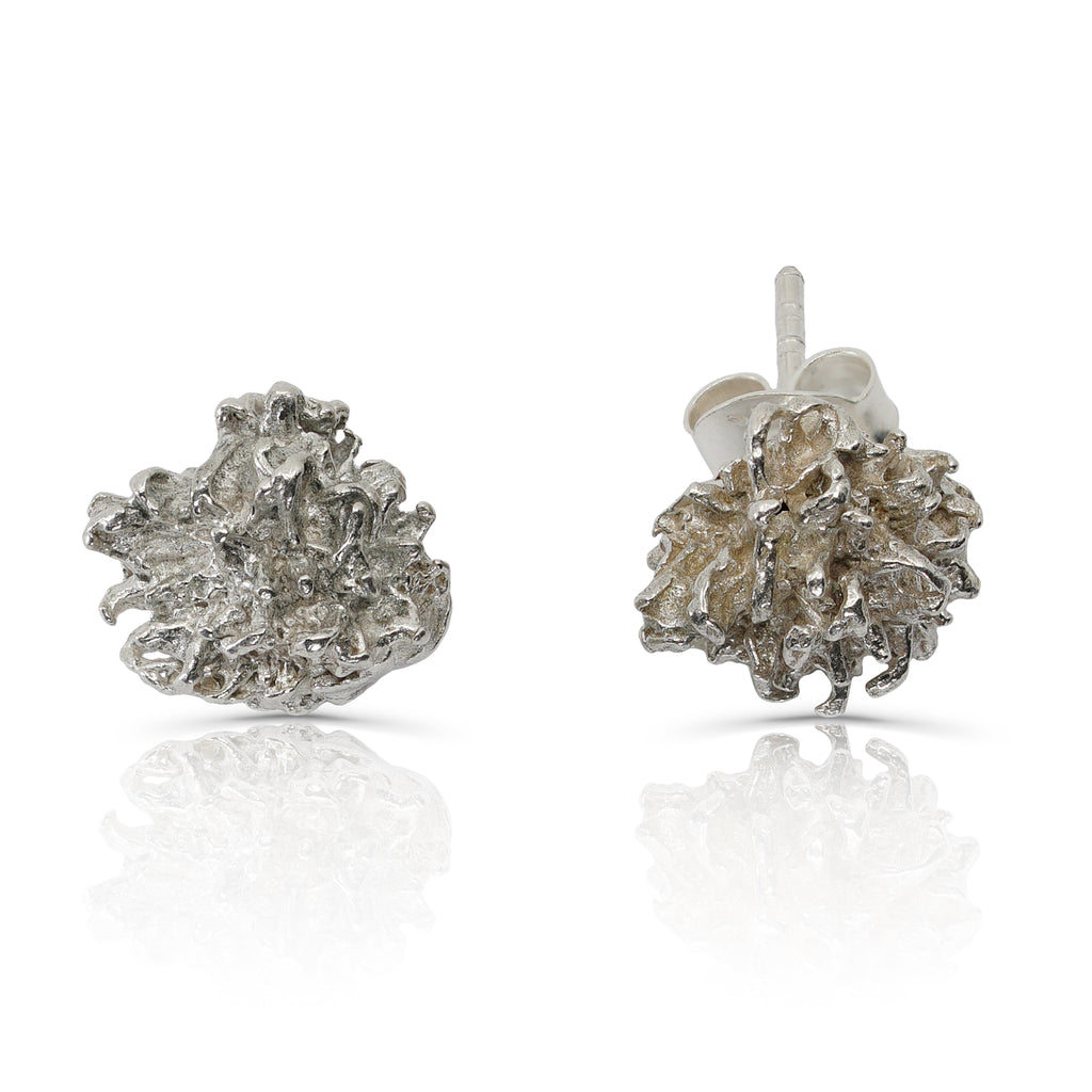 Rent Designer Jewelry - Elena Perez - Liquidambar Earrings - Silver