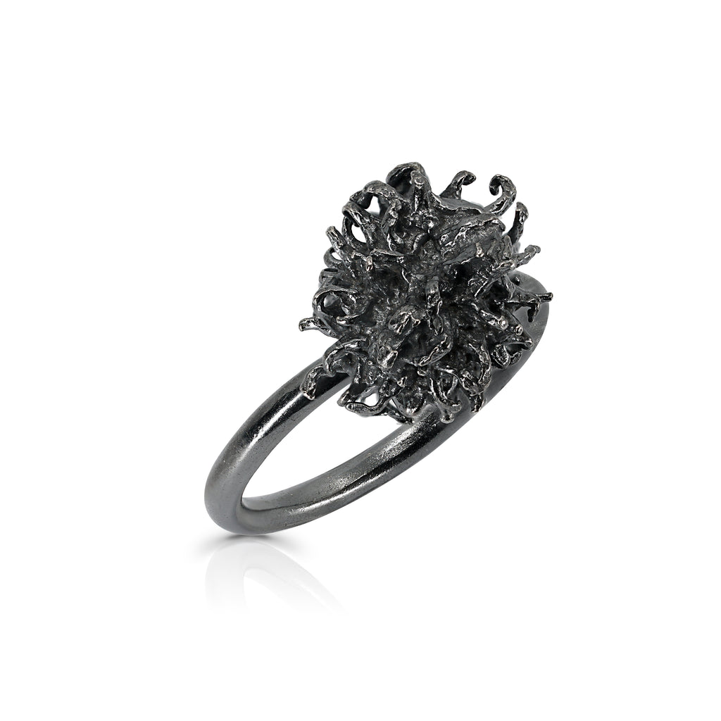 Rent Designer Jewelry - Elena Perez - Liquidambar Ring  - Black