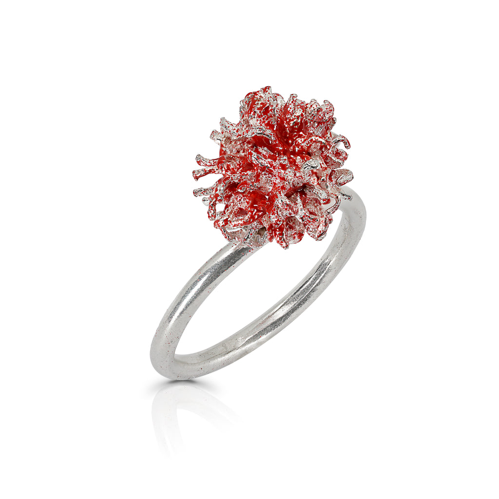 Rent Designer Jewelry - Elena Perez - Liquidambar Ring  - Red
