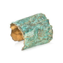 Brass with Patina Moss Bangle