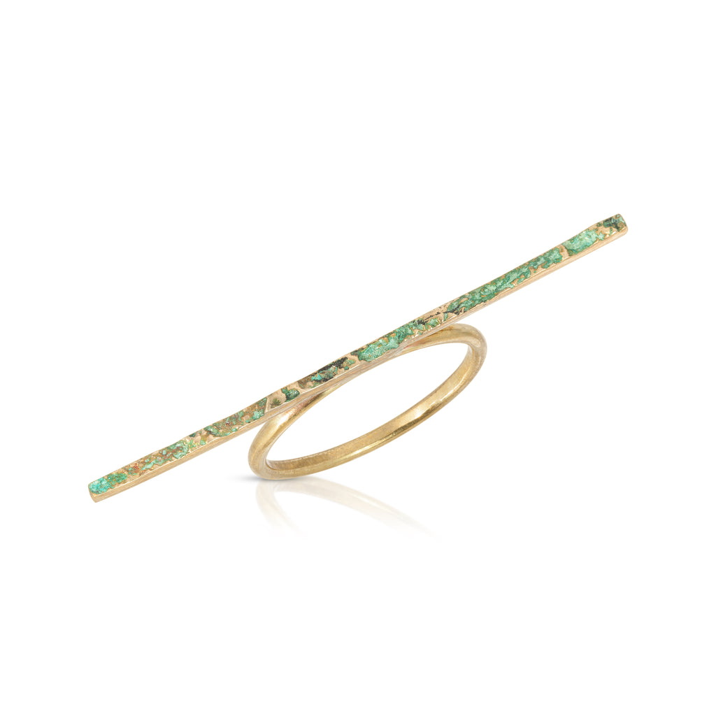 Elena Perez - Narrow Moss Ring