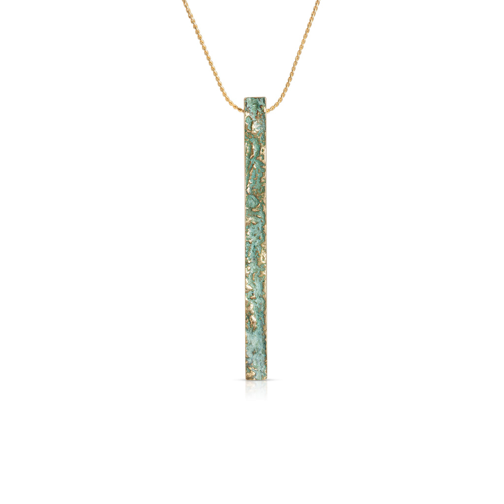 Elena Perez - Narrow Moss Designer Pendant on IndieFaves