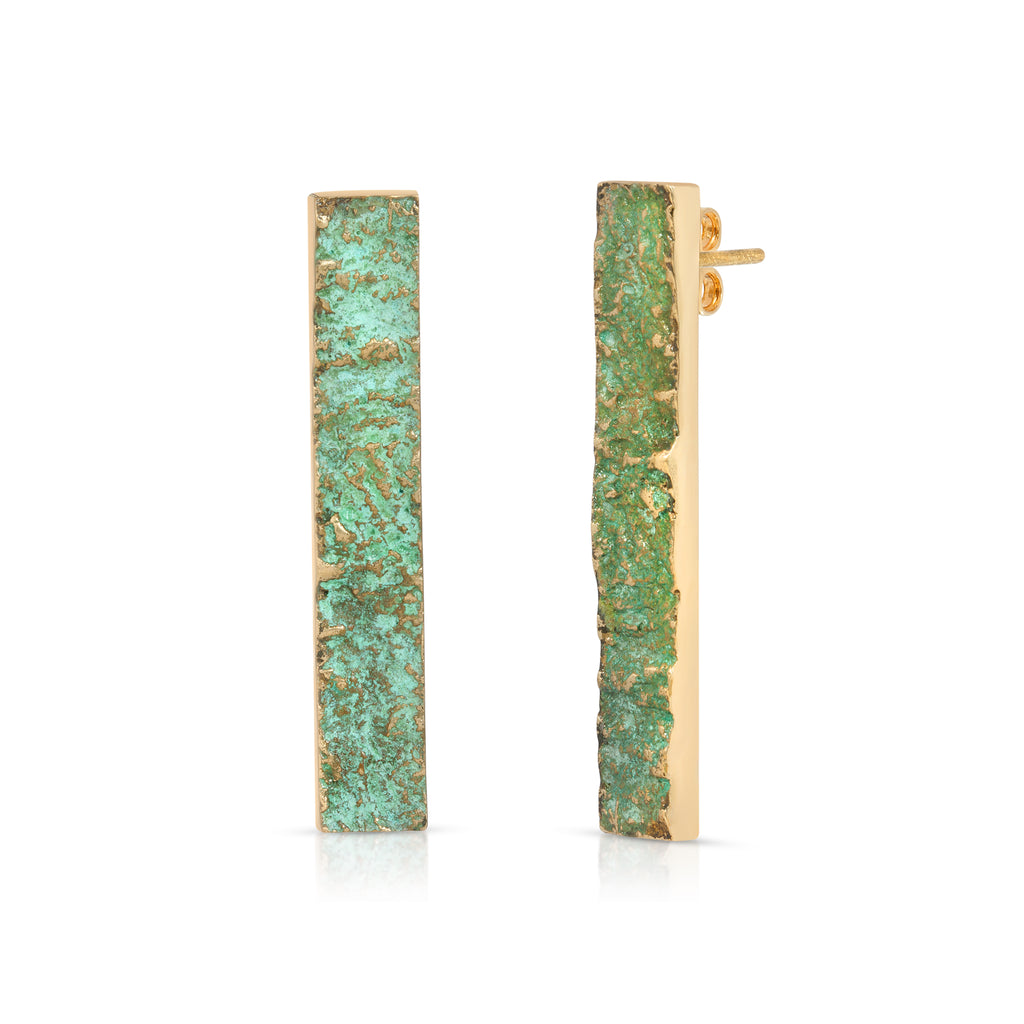 Elena Perez - Wide Moss Designer Earrings on IndieFaves