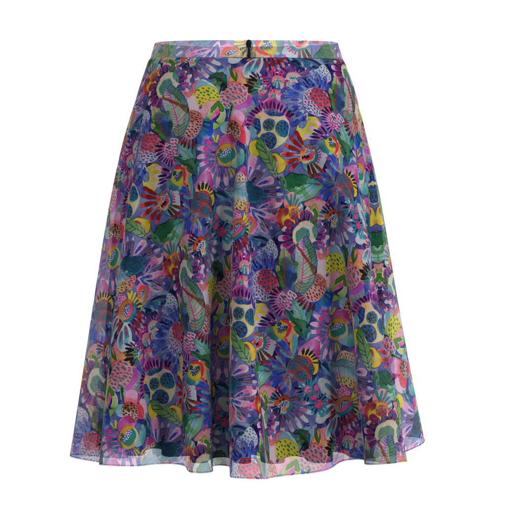 Flare Skirt Folk In Chiffon Back on IndieFaves