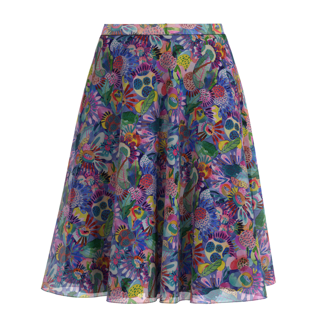 Flare Skirt Folk In Chiffon Front on IndieFaves