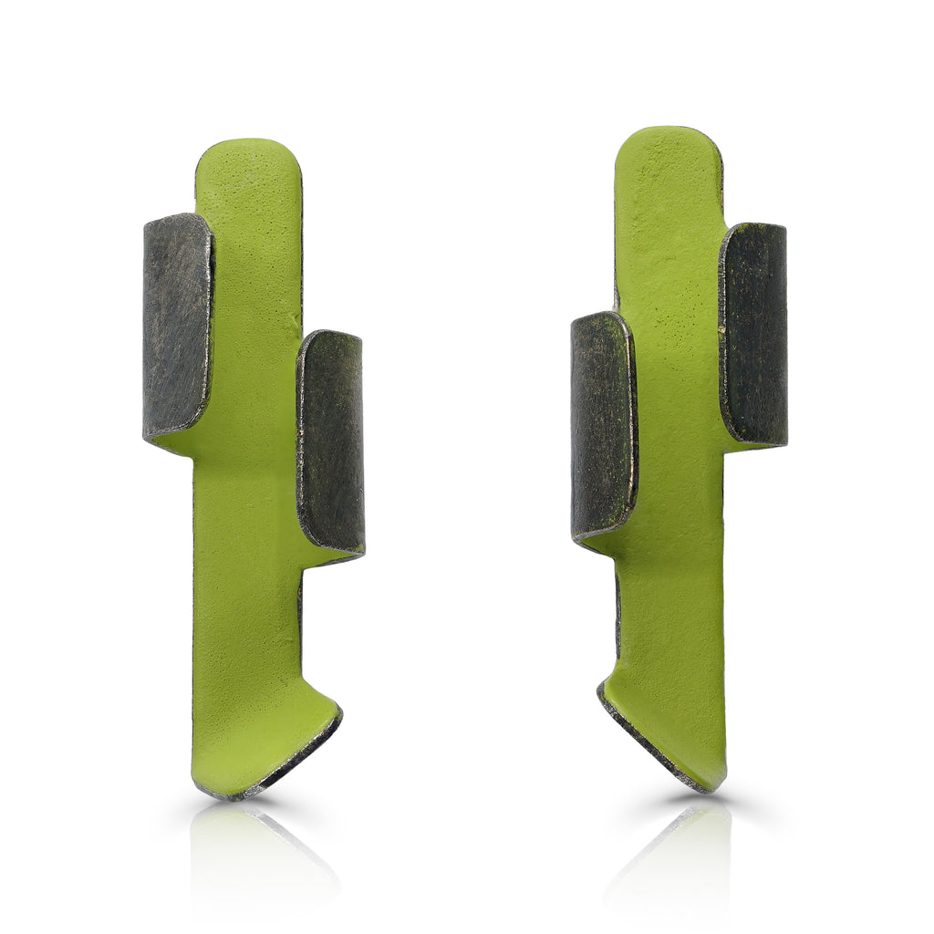Gemma Canal - Plegs Earrings Shape 1 Green