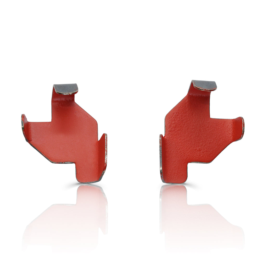 Gemma Canal - Plegs Designer Earrings Shape 3 Red on IndieFaves