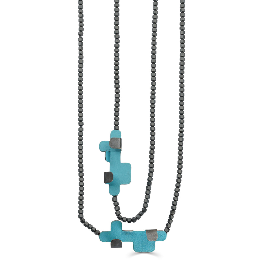 Gemma Canal - Plegs Necklace Shape 4 BlueGreen