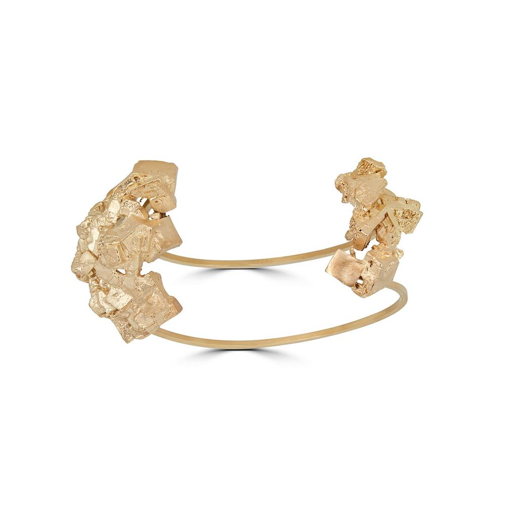 18K Gold-Plated Brass Fluorita Big Designer Bracelet on IndieFaves
