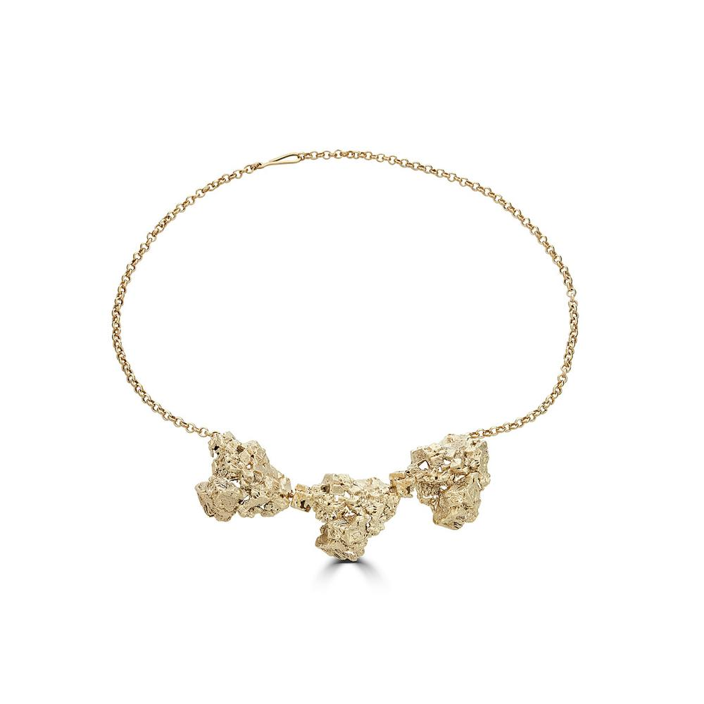 18K Gold-Plated Brass Designer Necklace on IndieFaves