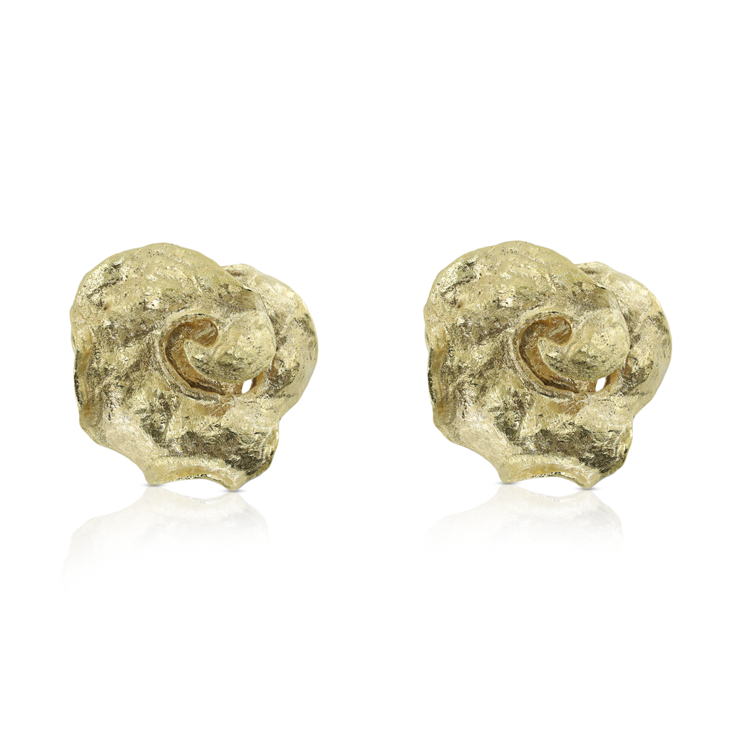 Kimah by Soraya Camacho - 18K Gold-Plated Designer Spiral Studs on IndieFaves