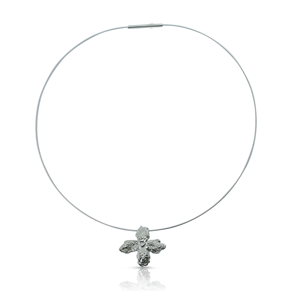 Kimah by Soraya Camacho - Silver Mustard Flower Necklace