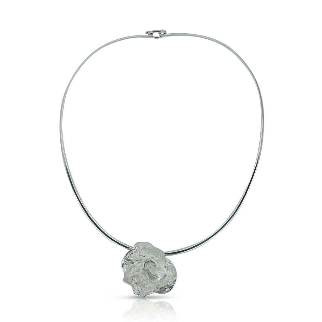Kimah by Soraya Camacho - Silver Spiral Designer Necklace on IndieFaves