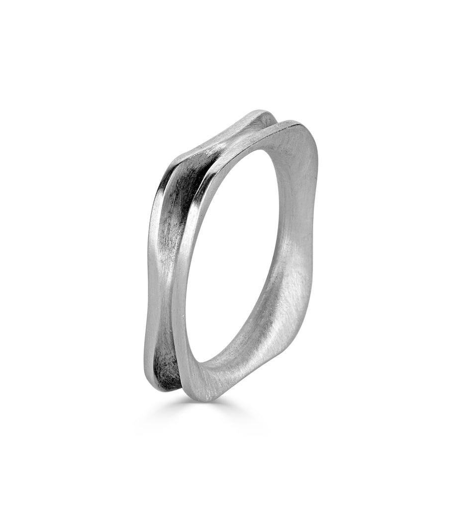 Recycled Sterling Silver Square Designer Ring on IndieFaves