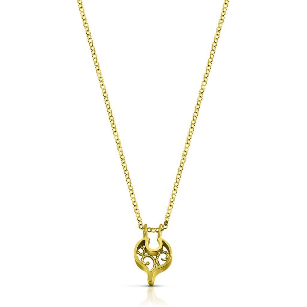 Linn Sigrid Bratland - Gold Geometric Designer Necklace on IndieFaves