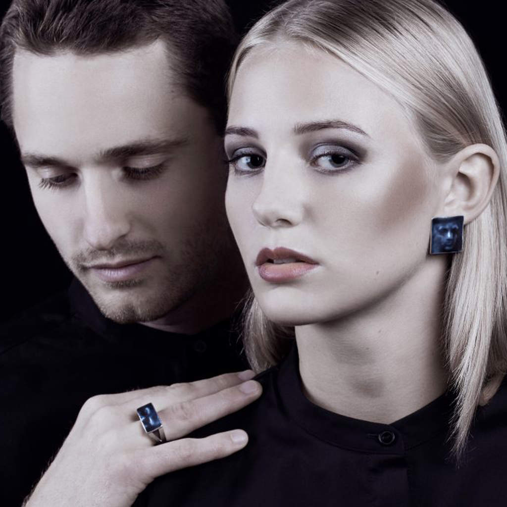 Model wearing Linn Sigrid Bratland  - Gold Masquerade Designer Ring on IndieFaves