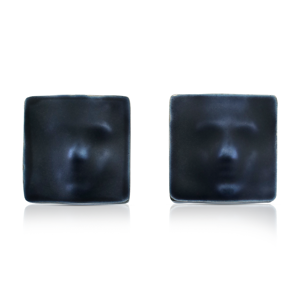 Linn Sigrid Bratland  -  Silver Maskerade Designer Earrings on IndieFaves