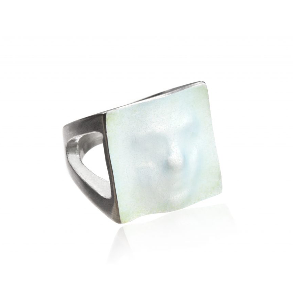 Linn Sigrid Bratland  - Silver Maskerade Designer Ring White Editorial on IndieFaves