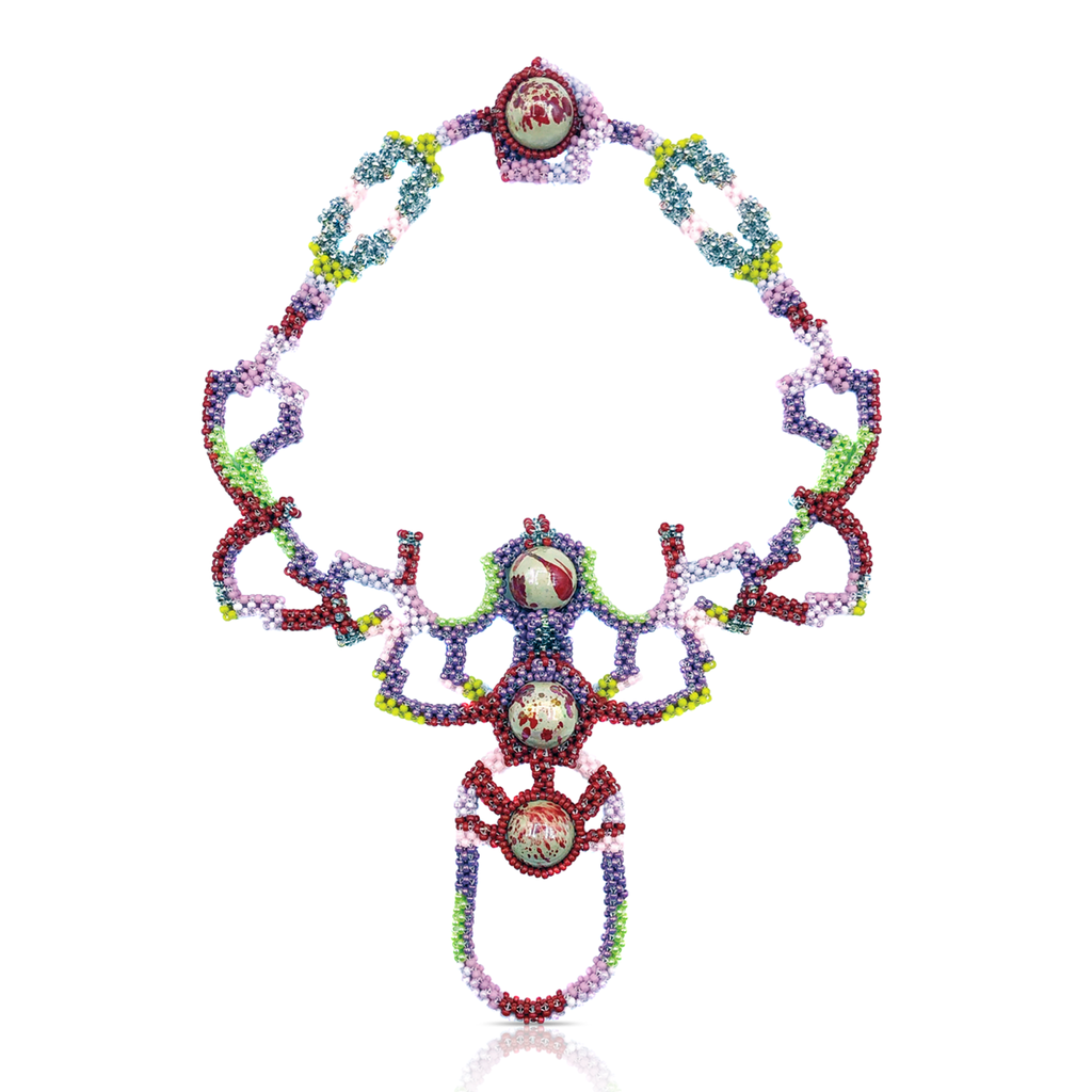 Mara Colecchia - Japanese and Vintage Beads Beetle Designer Collar Necklace on IndieFaves
